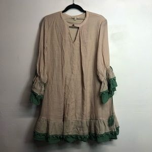 Umgee USA boho ruffle peasant dress